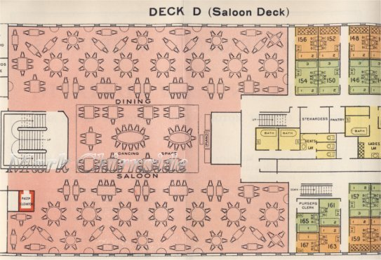 Adriatic Cabin Dining Saloon Plan