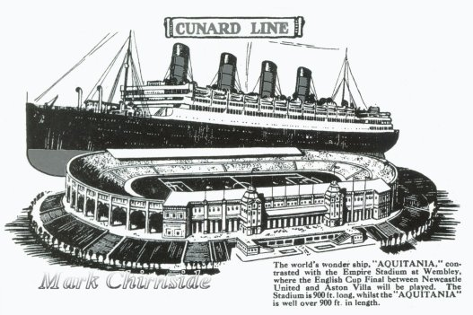 Aquitania Compared to Wembley Stadium