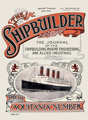 Aquitania Shipbuilder Reprint Cover